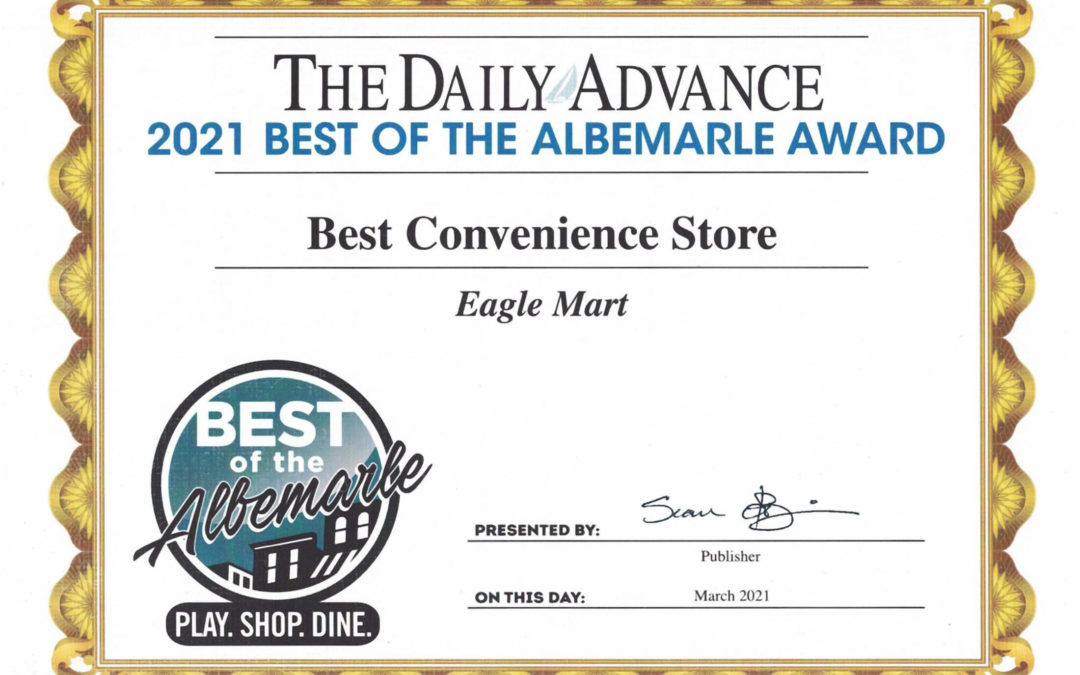 Eagle Mart Wins Best Convenience Store Award